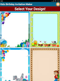 kids birthday invitation maker android apps on google play