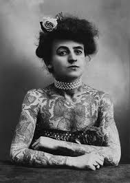 maud wagner female tattoo artist shows off her ink in the early