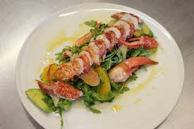 arugula salad with lobster orange avocado u0026 fennel salad