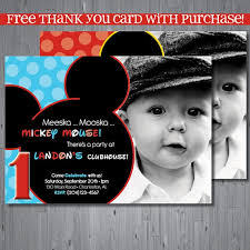 mickey mouse first birthday invitations christmanista com