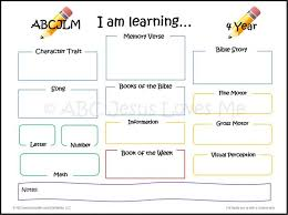 using the weekly lesson plans abc jesus loves me plan template