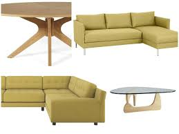 get the look citrine and olive in this vitra inspired living room