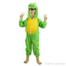 Child Dinosaur Halloween Costume Kids Animals Cosplay Green Dinosaur Onesie Pajamas Cartoon