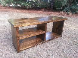 rustic wood boot bench