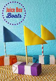 juice box boats summer crafts boating and box