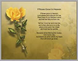 personalized if roses grow in heaven prayer mother poem mother