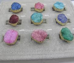 Geode Ring Box Popular Druzy Ring Buy Cheap Druzy Ring Lots From China Druzy Ring