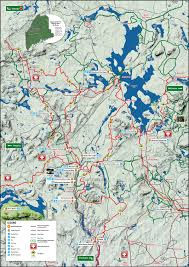 Map Maine Maine Snowmobile Trail Map Forks Area Chamber Of