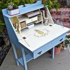 Vintage Americana Decor Posh Pineapple Vintage Desk Makeover Project By Decoart
