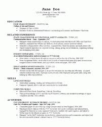 Related Experience Resume College On Resume Resume For Your Job Application