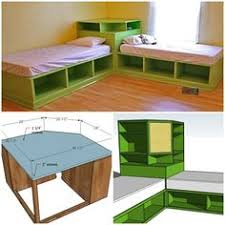 Storage Units For Kids Rooms by Diy Corner Unit For The Twin Storage Bed Space Saving Idea