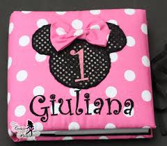 minnie mouse photo album minnie photo album baby girl birthday photo album personalized