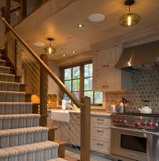 vacation home kitchen design vacation home kitchen pendant lighting warms up a lakeside retreat
