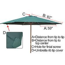 13 Patio Umbrella 13 Ft Patio Market Umbrella Replacement Canopy Green