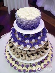 wedding cake and cupcakes purple wedding cake and cupcakes cupcakes canada