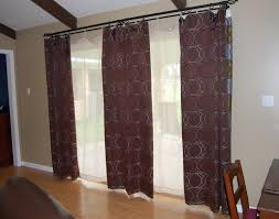 kitchen window treatment ideas for large sliding glass doors