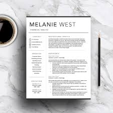 modern resume template for word and pages 1 3 cover format il full