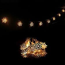 innoolight snowflake lights battery operated 40 leds indoor string