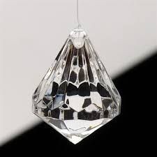 hanging crystals clear hanging acrylic diamond teardrop decoration small