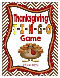 Fun Thanksgiving Questions Thanksgiving J I N G O Game By Kidz Count Teachers Pay Teachers