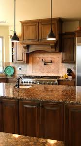 brown kitchen cabinets with backsplash 29 ivory travertine backsplash tile ideas