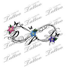 infinity with flowers and butterfly tattoos infinity