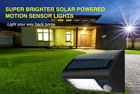 super solar powered motion sensor lights amazon com solar outdoor lights with motion sensor super bright