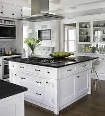 White Kitchen Black Countertop - white kitchen with black countertops home interior pinterest