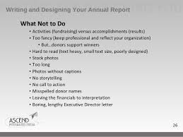 Financial Statements For Non Profit Organizations Exle by How To Write An Effective Nonprofit Annual Report