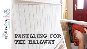Covering Wood Paneling by Panelling A Wall Using Matchboard Hall Stairs And Landing Youtube