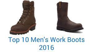 10 best men u0027s work boots 2016 youtube