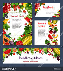 fruits berries banners posters templates vector stock vector
