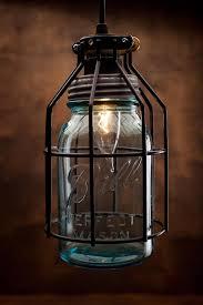 Mason Jar Pendant Light Rustic Vintage Lamp With Vintage Corporation Mason Jar Id Lights
