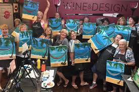 wine u0026 design oxford fl paint u0026 sip wine u0026 paint parties