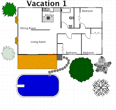 Vacation Cottage House Plans by Vacation House Style A Free Ez Architect Floor Plan For Windows