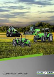deutz fahr global product range 2017 by deutz fahr issuu