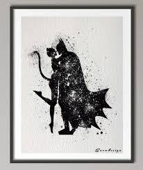aliexpress com buy batman catwoman watercolor canvas painting