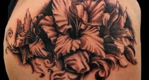 flower tattoos black and grey black and grey ink amazing gladiolus