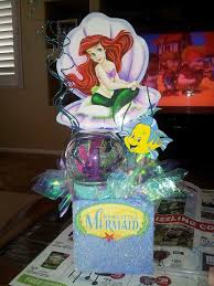 the little mermaid centerpiece sophia u0027s birthday pinterest