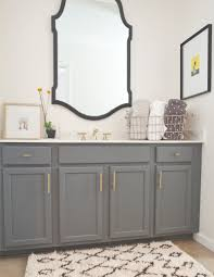 gray vanity bathrooms pinterest creative gray cabinets and grey