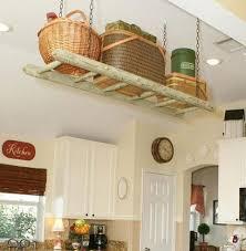 storage ideas for small kitchen small kitchen organizing ideas suspended ladder storage click