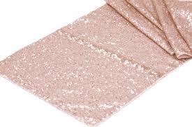 Sequin Table Runner Wholesale Glitz Sequin Table Runner Blush Rose Gold Cv Linens