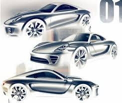 auto design porsche design sketches by olivier poulet automotive design