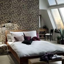 wandtapete schlafzimmer tapeten ideen schlafzimmer wände gestalten steinoptik wandtapete