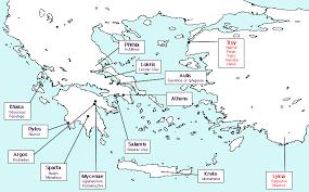 odyssey map the iliad