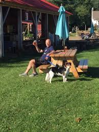 Dog In The Backyard by Me And The Best Dog In The World At One Of The Outdoor Tables