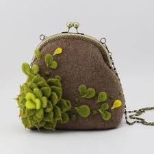 cute succulents handmade needle felted cute succulents project purse vintage