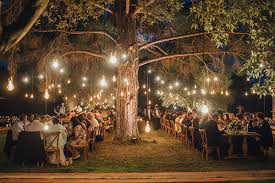 wedding lights enchanting olive grove wedding david chic stylish