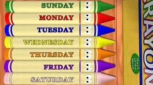 days week printable poster weekdays worksheet in pdf for