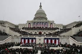 picture of inauguration crowd president barack obama waves to the crowd after delivering his